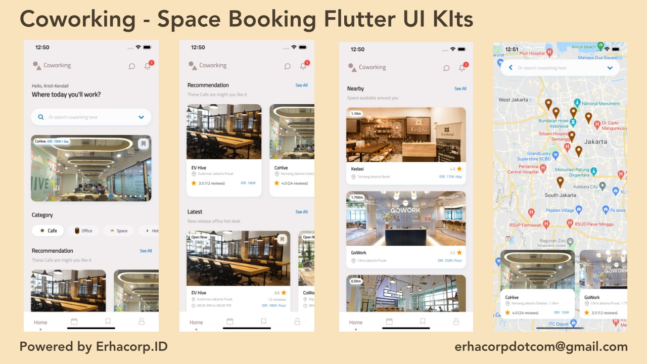 Coworking - Space Booking Flutter UI Kits with GetX - 1