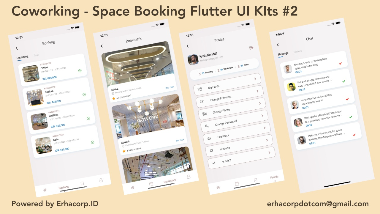 Coworking - Space Booking Flutter UI Kits with GetX - 3